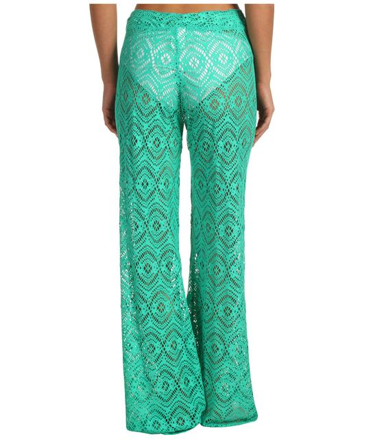 Becca by Rebecca Virtue Size: MEDIUM Tie-Front Mint Green Crochet CoverUp Pants