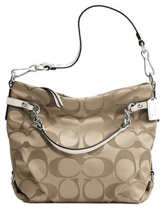 Coach Signature Khaki Brooke Hobo Bag