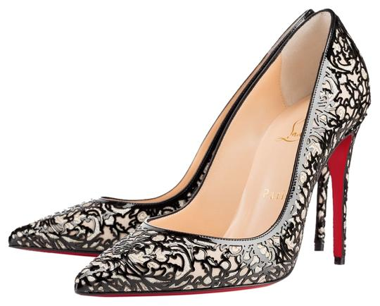 Christian Louboutin Patent Leather 7 Heels So Kate Black Pumps Image 4