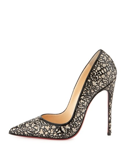 Christian Louboutin Patent Leather 7 Heels So Kate Black Pumps