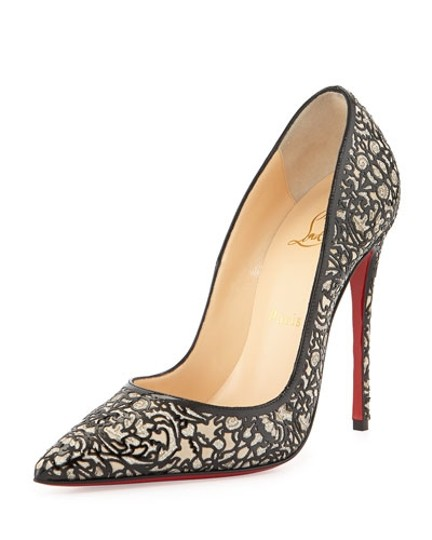 Christian Louboutin Patent Leather 7 Heels So Kate Black Pumps Image 7