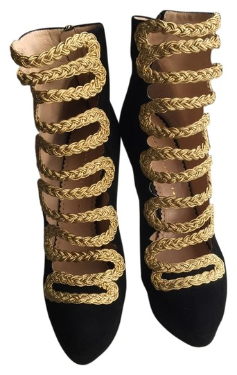 Charlotte Olympia Black and gold Boots