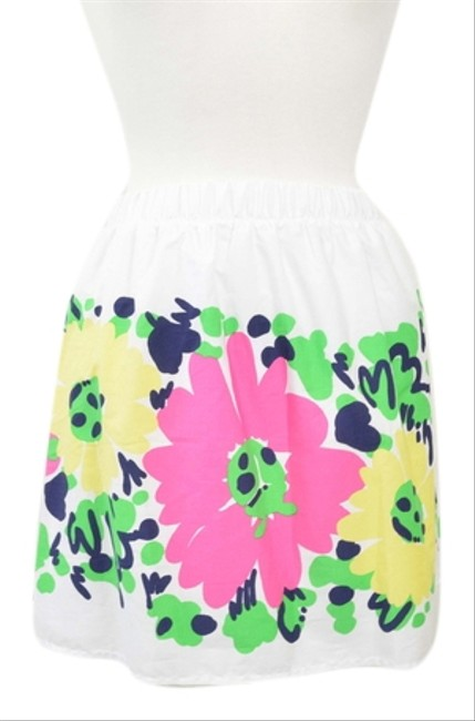 Lilly Pulitzer Floral Nwt Lilly Xsmall Mini Skirt White/Multi