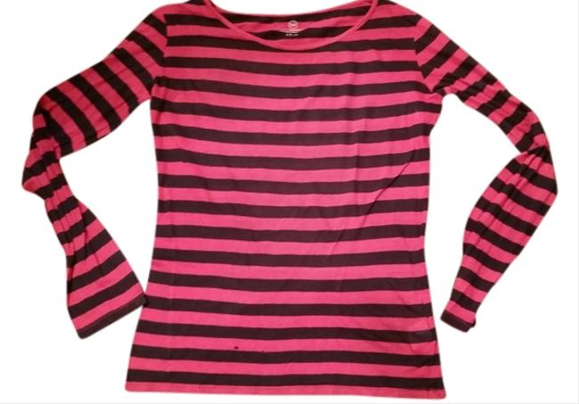 Neiman Marcus Cashmere T Shirt blue and red