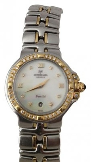 Preload https://img-static.tradesy.com/item/34872/raymond-weil-18k-white-gold-and-steel-case-brushed-and-polished-s-parsifal-two-tone-mother-of-pearl-0-0-540-540.jpg