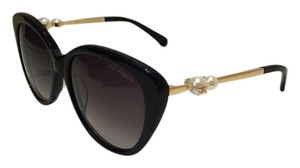 Chanel Chanel Sunglasses - Black Frame- Double Pearls- 100 % authentic !!