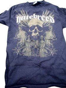 Other Hatebreed Skull Spiders Fitted T Shirt Black & Green