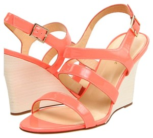 Kate Spade Hot Coral Wedges