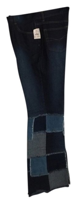 Item - Multi-colored Denim Flare Leg Jeans Size 35 (14, L)