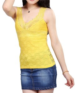 Floral Lace Large Top Yellow
