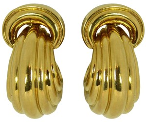 David Webb David Webb Large Polished Gold Earrings