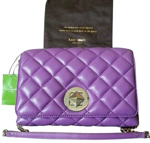 Kate Spade New York Quilted Satchel in Purple