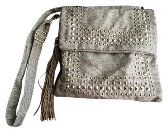 Preload https://item2.tradesy.com/images/bebe-studded-stone-and-gold-linen-cross-body-bag-3488026-0-0.jpg?width=440&height=440