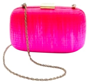 Serpui Marie Straw Two Tone Handcrafted Brazilian Designer Pink with Red Clutch