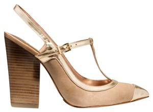 Coach Frankie Shoe Heels Heel Pump Gold Pumps
