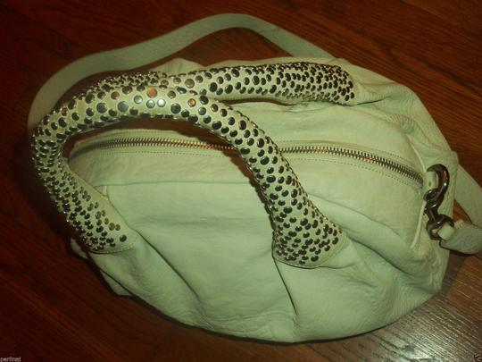Cesare Paciotti Zippered Studded Leahter 2handles Hobo Bag