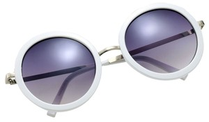 Beyonce Oversized Circle Sunglass (white/Sliver)