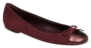 Delman New Ballet Leather Burgandy Flats