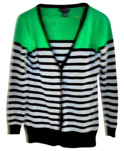 Say What? Cotton Rayon Color-blocking Bold Stripe Cardigan