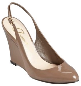 Delman New Pump Wede Slingback Beige Pumps