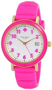 Kate Spade kate spade new york Women's Metro Pink Silicone Strap Watch 36mm 1YRU0415