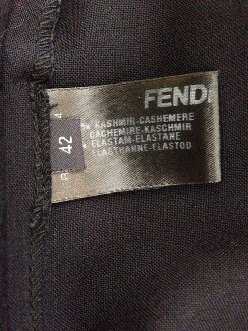 Fendi Straight Pants Black
