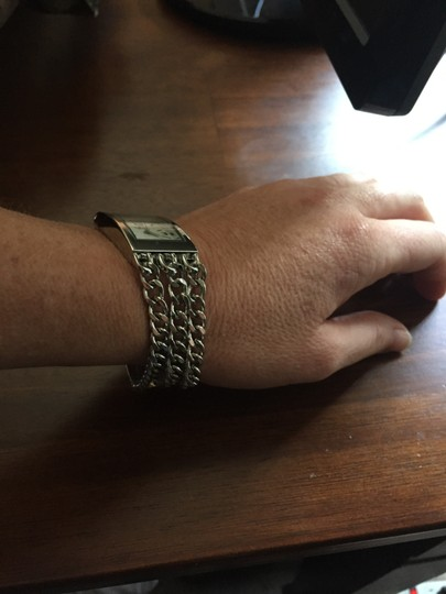 "Add designer ""Via Nova"" Silver Chain Statement Watch"