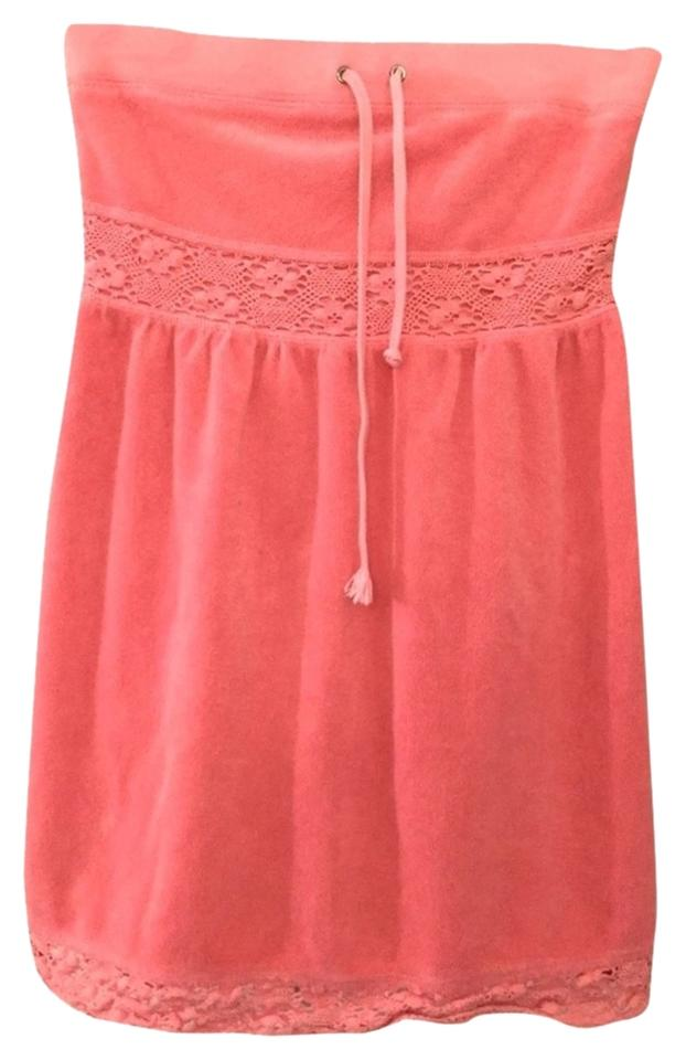 7309d4ce6a Juicy Couture Juicy Couture Pink Strapless Terry Cloth Cover Up Image 0 ...
