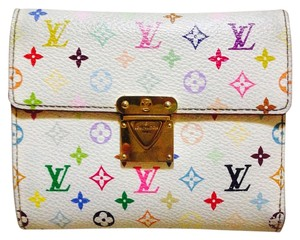 Louis Vuitton Louis Vuitton white multicolor koala wallet
