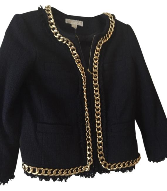 Preload https://item4.tradesy.com/images/michael-michael-kors-navy-gold-jacket-size-4-s-3490603-0-0.jpg?width=400&height=650