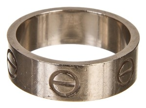Cartier Cartier 18k White Gold Love Ring (Size 48)