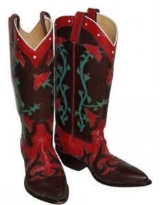 Rocketbuster Boots Broen, Red, Green Boots