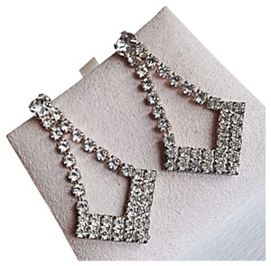 Rhinestone Diamond Dangle Earrings