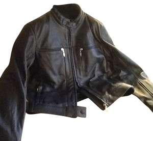 BMW Leather Motorcycle Black Jacket