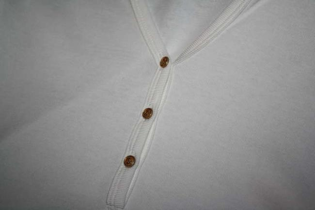 J.Crew Button Perfect Fit Tee Shirt Small Top White