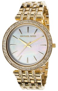 Michael Kors Women's Darci Gold-Tone Steel White Mother of Pearl Dial