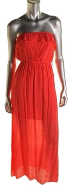 Preload https://img-static.tradesy.com/item/3491908/trixxi-orange-textured-ruffled-strapless-juniors-long-casual-maxi-dress-size-4-s-0-0-650-650.jpg
