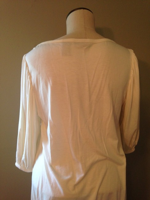 New York & Company Top Off White With Sequins