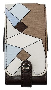 Emilio Pucci Emilio Pucci Brown Multi Color Nylon & Leather iPod Case (43645)