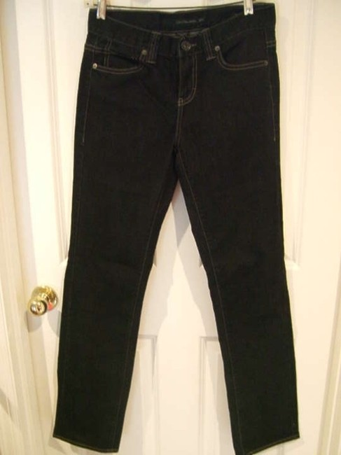 Calvin Klein Dark Wash 27 4 Small Extra Small S Sm Bts 31 Inseam 31 29 29 Waist Regular Length Durable Skinny Jeans-Dark Rinse