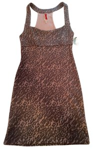 Free People short dress Racerback Racer-back Racerback Bodycon Bodycon Racer-back Racerback Racer-back Gray Animal Print Animal Print on Tradesy