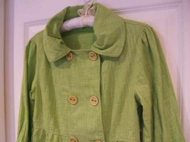 Dimri Look Cotton All Cotton Crisp Office Work Classic Traditional Fun Rounded Collar Buttons Double Breasted Blazer Cruise Lime Green Jacket