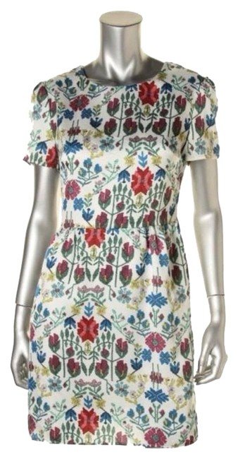 Preload https://img-static.tradesy.com/item/3492034/charles-henry-multicolo-white-floral-print-mid-length-cocktail-dress-size-6-s-0-0-650-650.jpg