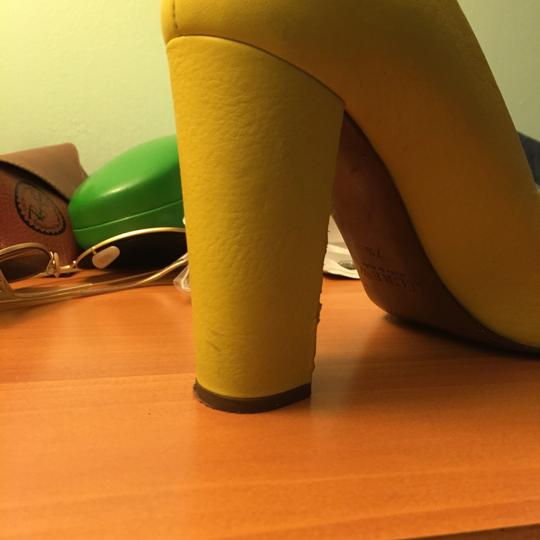 J.Crew Yellow And Gold Pumps