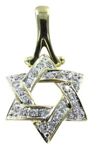 Vintage 14KT YELLOW GOLD AND DIAMOND PENDANT STAR OF DAVID
