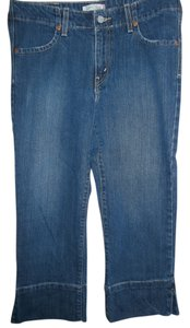 Levi's Cotton Lycra Size 10 Faux Cuffs Capri/Cropped Denim-Medium Wash