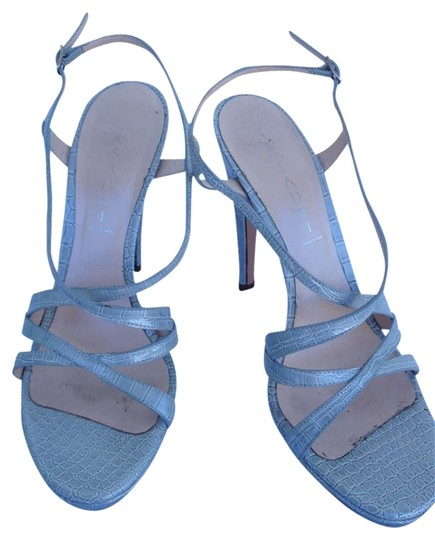 Casadei Croc Strappy blue Sandals