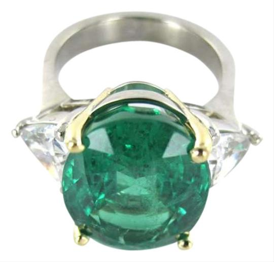 Preload https://item1.tradesy.com/images/unique-18k-white-gold-large-blue-green-emerald-and-two-triangle-ring-349235-0-0.jpg?width=440&height=440