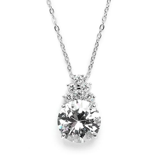 Mariell Silver Bold Or Bridesmaid Pendant 3691n Necklace