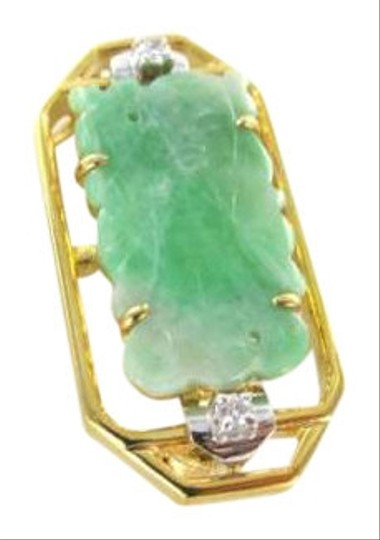 Preload https://item3.tradesy.com/images/yellow-gold-18k-pin-brooch-jade-buddha-2-diamond-hand-carved-chinese-necklace-349262-0-0.jpg?width=440&height=440